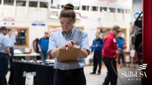 female automotive students at skills usa
