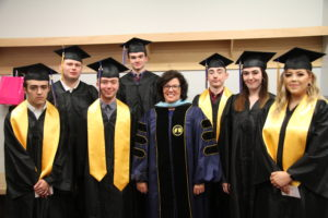 president larson and utc graduates