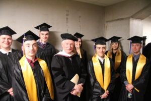 Bill Green with EMCC graduates