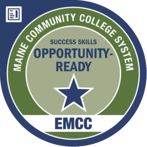 eastern maine community college - opportunity ready badge logo
