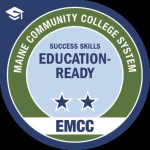eastern maine community college - education ready badge logo