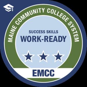 eastern maine community college - work ready badge logo