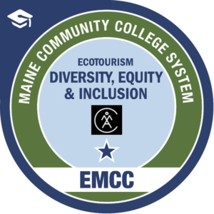 eastern maine community college - diversity, equity, and inclusion AMC badge logo