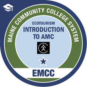 eastern maine community college - introduction to AMC AMC badge logo