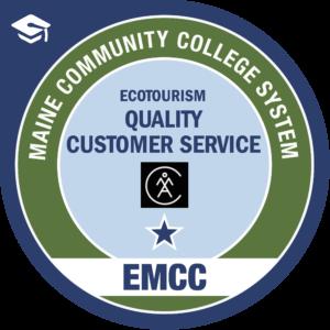 eastern maine community college - quality customer service AMC badge logo