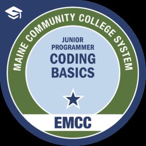 eastern maine community college - coding basics badge logo