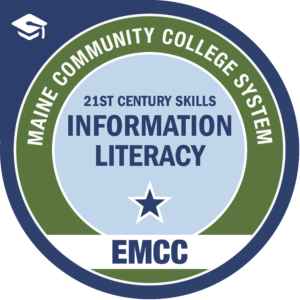 eastern maine community college - information literacy badge logo