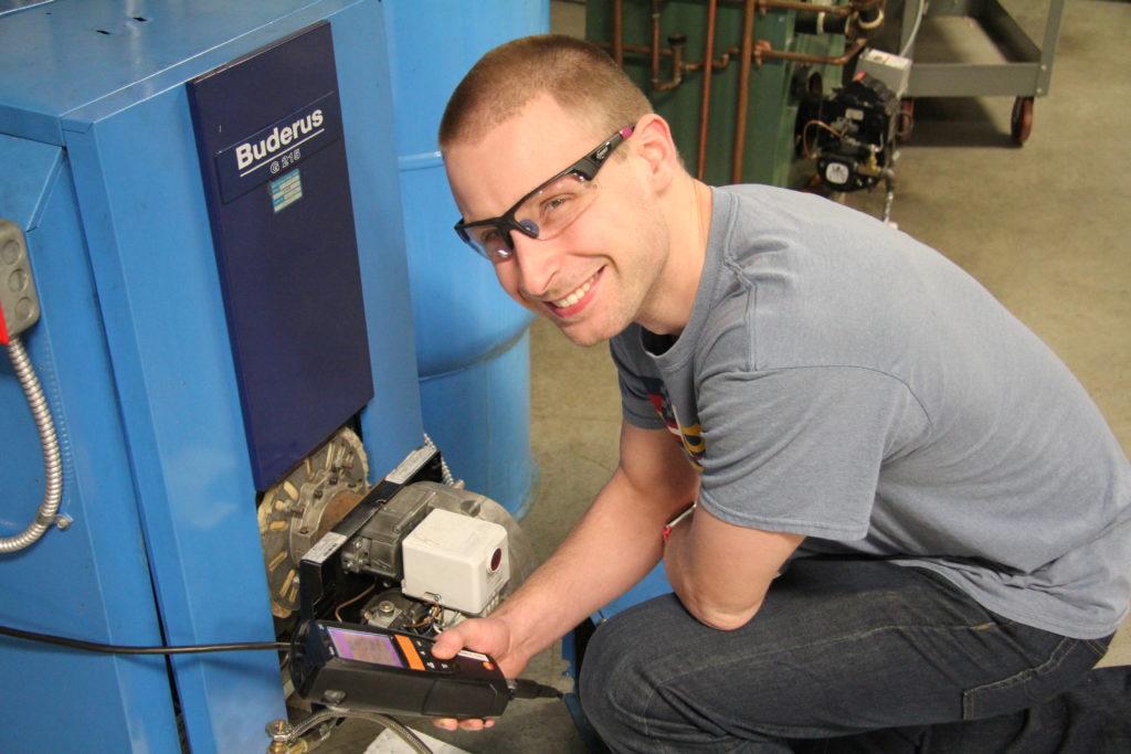 oil burner tech student